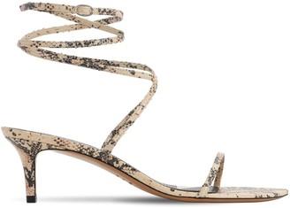 Isabel Marant 50mm Aridee Python Print Leather Sandals