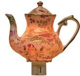 Green Pastures Wholesale Bird Teapot Porcelain Night Light