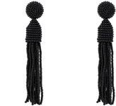 Latelita Beaded Designer Tassel Earring Black