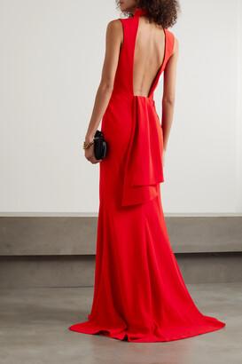 ALEXANDER MCQUEEN - Open-back Crepe Gown - Red