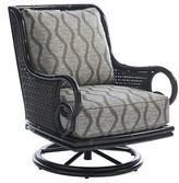 Tommy Bahama Marimba Swivel Patio Chair with Sunbrella Cushions Outdoor