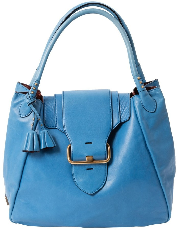 Marc Jacobs Blue Leather Handbag
