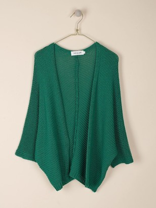 Indi & Cold - Emerald Green Cap Sleeved Cardigan - m