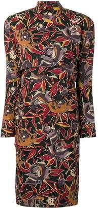 Versace Pre-Owned 1980s floral print asymmetric panel dress