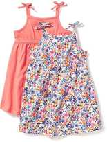 Old Navy Bow-Tie-Shoulder Fit & Flare Dress 2-Pack for Toddler Girls