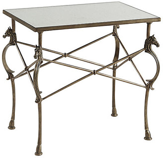 Theodore Alexander Julia Side Table - Antiqued Brass Antiqued Brass/Antiqued Mirrored