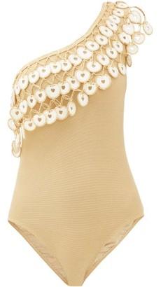 My Beachy Side - Firtekom/alp Crochet-knitted Swimsuit - Womens - Gold