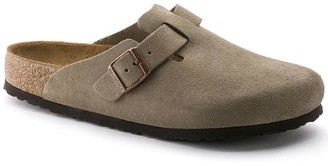 Birkenstock Taupe Boston Sandal Suede Soft Foot Bed - UK8/42 - Brown/Grey