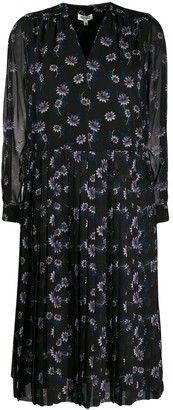 Kenzo Passion Flower pleated midi dress