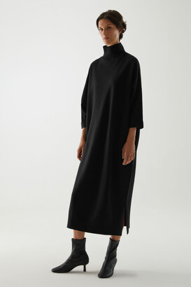 Cos Merino Wool Roll-Neck Knitted Maxi Dress