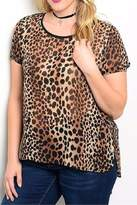 Moa Brown Leopard Plus Tee