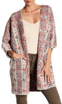 Lucky Brand Diamond Open Front Cardigan