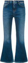 Twin-Set cropped flared jeans - women - Cotton/Polyester/Elastodiene - 28