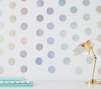 Pottery Barn Kids Wallpops Holographic Confetti Dots Wall Decals