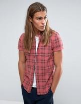 Asos Regular Fit Check Shirt In Pink
