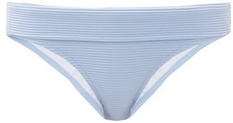 Heidi Klein Bora Bora Folded-waist Ribbed Bikini Briefs - Light Blue
