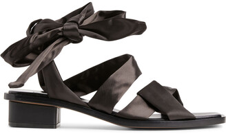 Arket Satin-Strap Leather Sandals