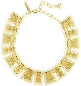 Oscar de la Renta Golden Scalloped Edge Necklace