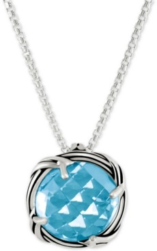 Peter Thomas Roth Blue Topaz Adjustable Pendant Necklace (5 ct. t.w.) in Sterling Silver