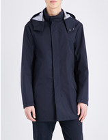 Armani Jeans Two-way zip hooded parka
