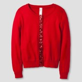 Cat & Jack Girls' Cardigan Cat & Jack - Red Pop