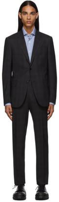 Ermenegildo Zegna Black Check Milano Easy Suit