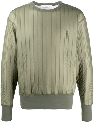 Ambush Drop Shoulder Padded Sweatshirt