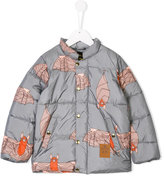 Mini Rodini bat print padded coat