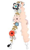 Fendi Strap You floral-embellished leather bag strap