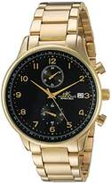 Adee Kaye Men's Quartz Stainless Steel Fitness Watch, Color:Gold-Toned (Model: AK7501-MGBK)
