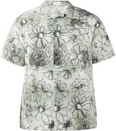 Jil Sander flower print shortsleeved shirt - men - Silk/Linen/Flax - 39