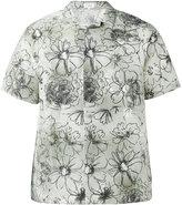 Jil Sander flower print shortsleeved shirt - men - Silk/Linen/Flax - 40