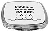 Rikki Knight Compact Mirror, Shhh I'm Hiding from My Kids, 5 Ounce