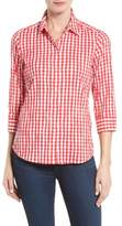 Foxcroft Crinkled Gingham Shirt