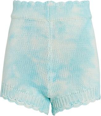 LoveShackFancy Karissa Tie-Dye Knit Shorts
