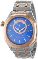"Vince Camuto Men's VC/1005BLTR ""The Spectator"" Stainless Steel and Rose-Tone Blue Dial Watch"