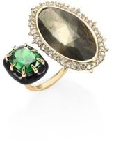 Alexis Bittar Custom Gemstone Cocktail Ring