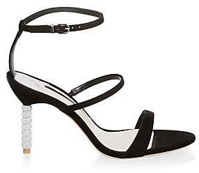 Sophia Webster Women's Rosalind Embellished-Heel Suede Sandals