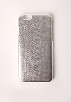 Missguided Silver Snakeskin Iphone 6+ Case