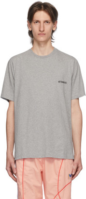 Vetements Grey Logo Front Back T-Shirt