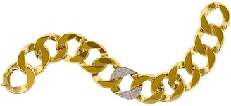 Verdura 18kt Yellow Gold Diamond Curb-Link Bracelet