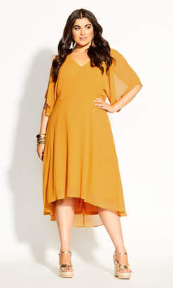 City Chic Adore Dress - honey