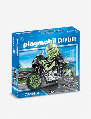 Playmobil City Life motorbike and rider playset