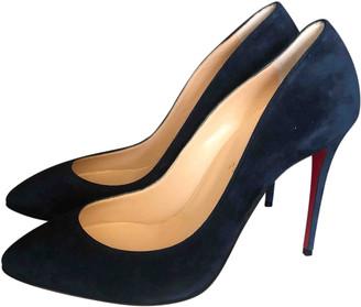 Christian Louboutin Blue Suede Heels