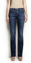 Lands' End Women's Petite Mid Rise Boot Cut Jeans-Medium Indigo Wash