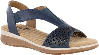 Easy Street Shoes Comfort Wave by Leather Sandals - Marley