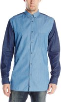 Zanerobe Men's Denim Long Sleeve Shirt