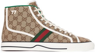 Gucci Tennis GG signature hi-top sneakers