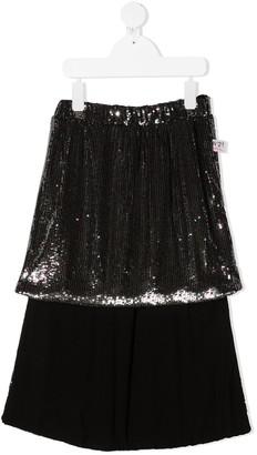 No21 Kids Layered Sequin Skirt