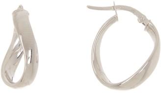 Breuning 14K White Gold 21mm Huggie Earrings
